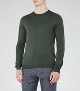 Reiss Reiss Hart - Merino Wool Jumper In Green, Mens