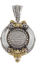 Konstantino Asteri Ornate Round Pendant w/ Pave White Diamonds & Mother-of-Pearl Inlay
