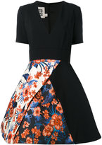Fausto Puglisi floral panel flared skirt dress