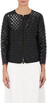 Giorgio Armani Women's Studded Leather Cutout Jacket