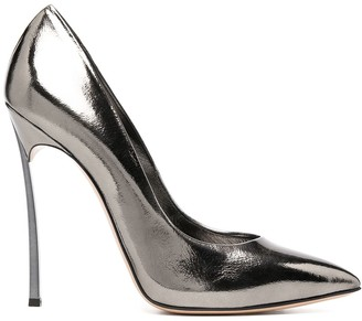 Casadei Blade 115mm metallic pumps