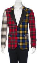 Moschino Tartan Wool Blazer
