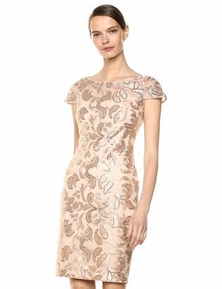 Calvin Klein Women's Cap Sleeve Sequin Sheath Dress