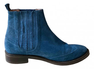 Opening Ceremony Blue Suede Boots