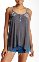 Scrapbook Paisley Accent Ribbed Tank
