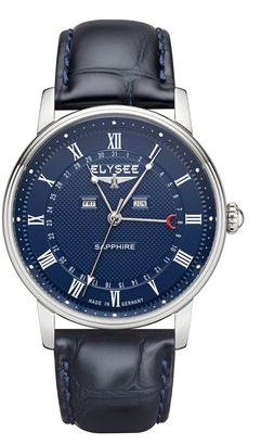 Elysee Unisex Adult Analogue Quartz Watch with Leather Strap 770018L