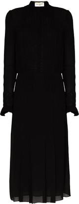 Saint Laurent Sheer Shirt Dress