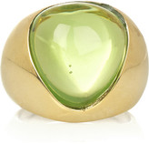 Gold-plated glass stone ring