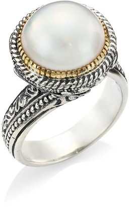 Konstantino Thalia 18K Yellow Gold, Sterling Silver & Cultured Pearl Ring