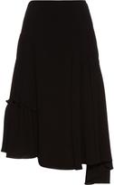 J.W.Anderson Asymmetric-hem crepe skirt