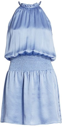 Parker Judith Smocked Silk Dress