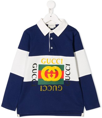 Gucci Kids Logo-Print Polo Shirt