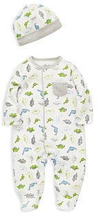Little Me Boys' Tiny Dinosaurs Footie & Cap Set - Baby