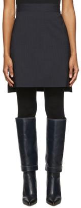 Sportmax Navy Sapone Skirt