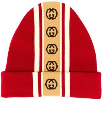 Gucci Interlocking G stripe knitted hat