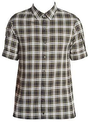 Neil Barrett Men's Multipocket Tartan Shirt