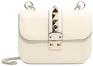 Valentino Lock Shoulder Bag Small Ivory