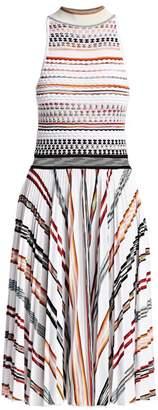 Missoni Striped Knit Bodice Dress