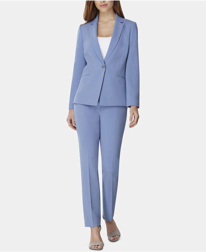 One-Button Crepe Pantsuit