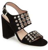 Topshop Women's Nadia Rivet Block Heel Sandal