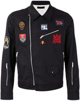 Alexander McQueen embroidered biker jacket - men - Cotton/Polyester/Viscose - 50
