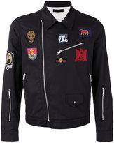 Alexander McQueen embroidered biker jacket - men - Cotton/Polyester/Viscose - 52