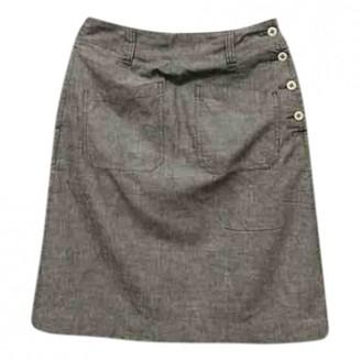 Margaret Howell Grey Cotton Skirt for Women