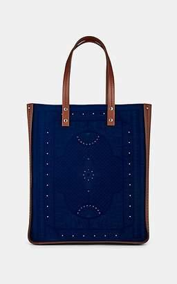 Fontana Milano Women's Tum Tum Large Velvet Tote Bag - Navy