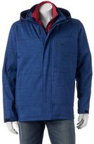 Izod Men's Softshell Hooded 3-in-1 Systems Jacket