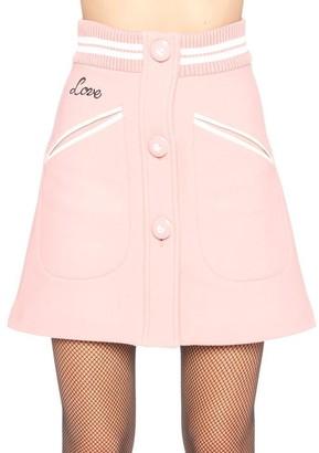 Miu Miu Buttoned A-Line Mini Skirt
