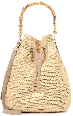 Heidi Klein Savanna Bay Mini raffia bucket bag
