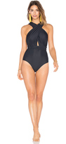 Lenny Niemeyer Deep V Wrap One Piece