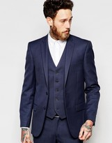 New Look Suit Jacket In Navy