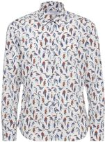 Poggianti 1958 Bird Print Shirt