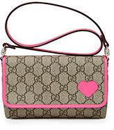 Gucci Girl's GG Supreme Canvas Shoulder Bag