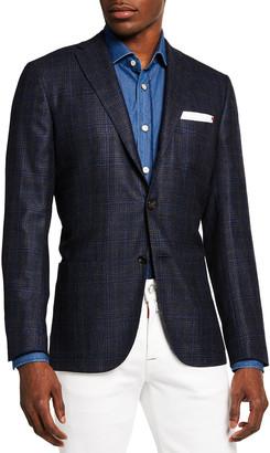 Kiton Men's Plaid Sport Jacket