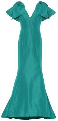 Oscar de la Renta Silk faille gown