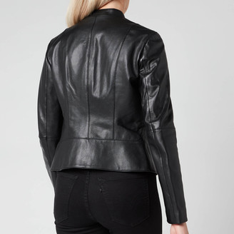 HUGO BOSS Women's Lonia Leather Jacket