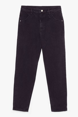 Nasty Gal Womens Mom's Always Right High-Waisted Jeans - Black - 6