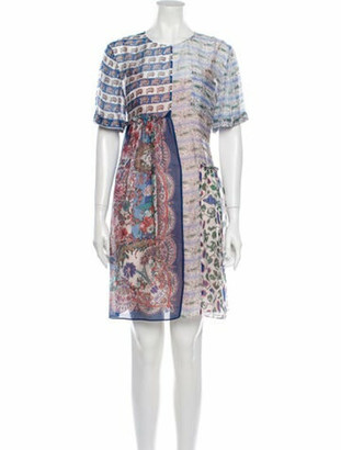 Liberty of London Designs Floral Print Knee-Length Dress Blue