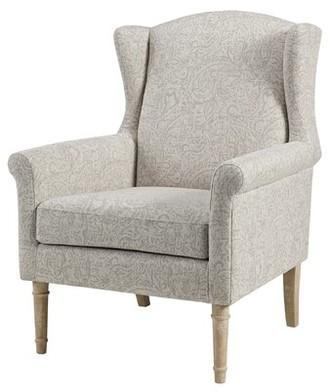 Martha Stewart Jaxx Wingback Chair Upholstery Color: Natural Multi