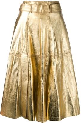 Golden Goose Metallic Midi Skirt