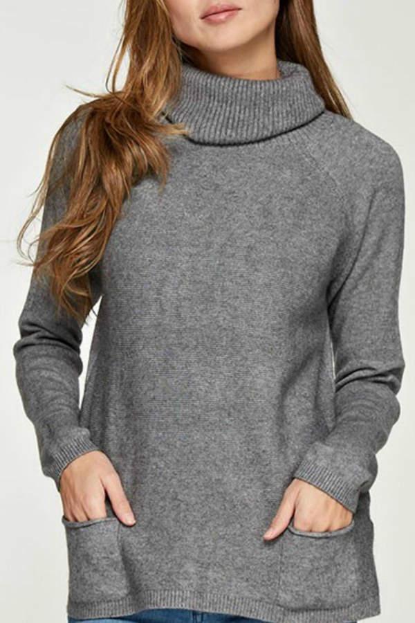 Love Stitch Lovestitch Pocket Turtleneck Sweater