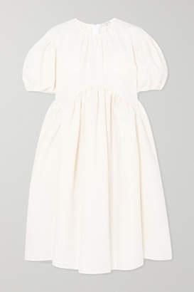 Sophie Bille Brahe Cecilie Bahnsen Thelma Oversized Cotton-blend Cloqué Dress - White