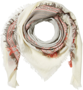 Closed Embroidered Cotton Scarf
