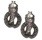 Kenneth Jay Lane KJL Scintillating Serpent Hoop Earrings Pierced