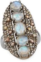 Bavna Labradorite & Diamond Shield Ring