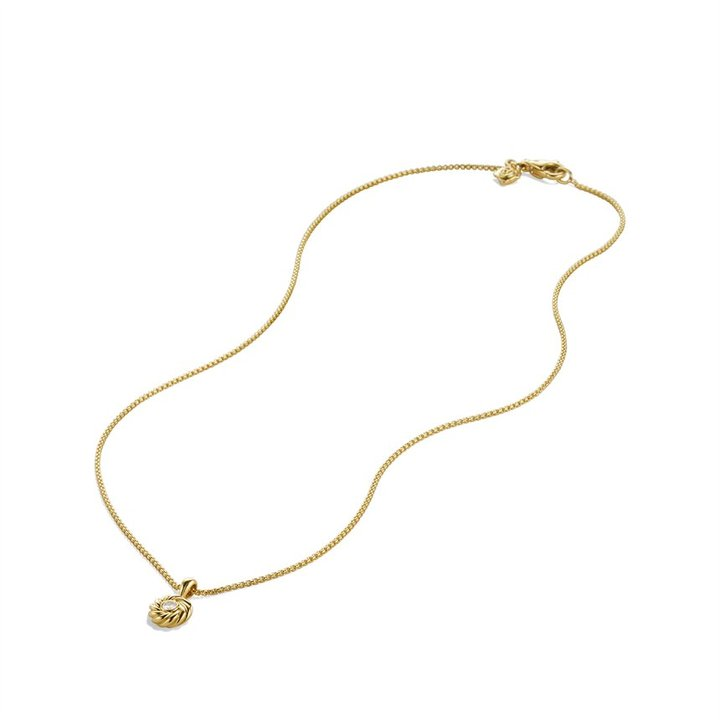 David Yurman Cable Kids Pendant with Diamond in Gold on Chain