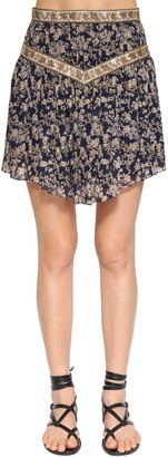 Etoile Isabel Marant Valerie Printed Cotton Mini Skirt