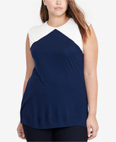 Lauren Ralph Lauren Plus Size Jersey Colorblocked Top